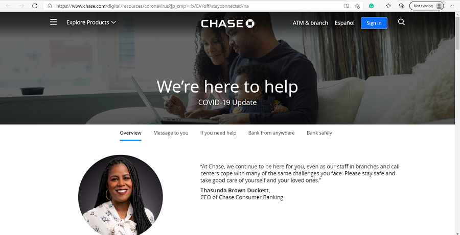 chase credit card debt relief for covid 19